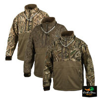 DRAKE WATERFOWL GUARDIAN ELITE MST QUARTER 1/4 ZIP EQWADER CAMO PULLOVER COAT
