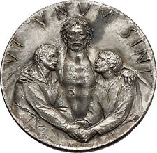 Vatican 1975 Holy Year Jubilee Basilicas of Rome Jesus Christ Medal i44400