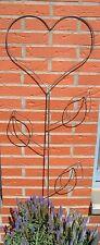 Gartenstecker Herz mit Blätter schöne Deko auch Ideal als Rankhilfe Handarbeit