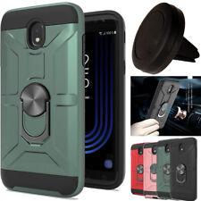 For Samsung Galaxy J7 2018/Refine Hybrid Kickstand Hard Case Cover+Car Holder