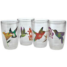 Insulated Hummingbird Tumblers, Set of 4 Glasses Plastic Drinkware 16oz