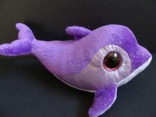 "NWT TY Beanie Boos 6"" FLIPS Purple Dolphin Name Tag ERROR Oddity Ruby Fish NEW"