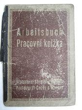 Employment Record Book Work ID Czechoslovakia 1941 Arbeitsbuch Livret d'ouvrier