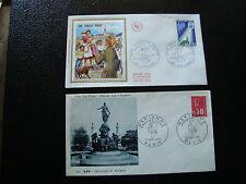FRANCE - 2 enveloppes 1er jour 1971 (2eme choix tache) (cy17) french