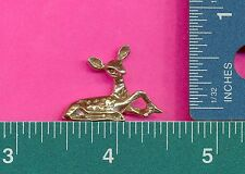 12 wholesale pewter laying fawn deer figurines A1053