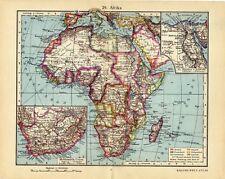 Antique map South Africa Egypt 1928  Zuid Afrika Egypte