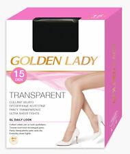 """5er Pack: Golden Lady """"Transparent 15"""" Strumpfhose versch. Farben und Größen"""