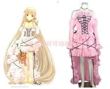 Chobits Chi Cosplay Costumes Lolita Girl Pink Dress Party Gown Customize Size
