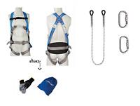 K PROFI SET Fallschutz Fallgurt Sicherheitsgurt geprüft DIN361 EN358 Seil 2m