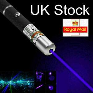 10miles Purple Laser Pen Pointer 1MW 450NM HIGH POWER Lazer Light Visible Beam