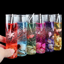 Romantic Glass Bottles Ocean Smokeless Jelly Wax Wedding Xmas Party Gel Candles