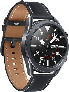 Samsung Galaxy Watch3 SM-R845F 45mm Mystic Black Edelstahlgehäuse mit Schwarz L