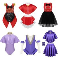 Kids Baby Girls Greatest Show Circus Ringmaster Fancy Dress Up Party Costumes