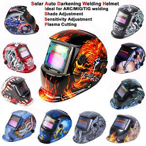 New Solar Pro Auto Darkening Welding Helmet Arc Tig Mig Grinding Welders Mask