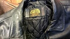 NASCAR BLACK LEATHER JACKET XXL HEAVY DUTY