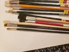 8 New Winsor Newton & Grumbacher+ 6 Duro Oil Brush 1,2,4,6,8,List $145.NOW $59.