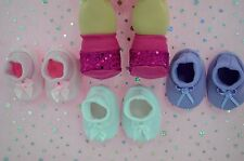 "PlaynWear Dolls Clothes For16""Cabbage Patch4x BOOTIES~HOT PINK~WHITE~LILAC~PINK"