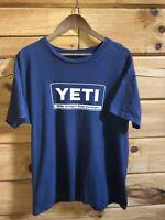 Yeti Wildly Stronger Keep Ice Longer Blue Shirt ~ Men's Sz Large