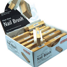 Apollo Maple Wooden Nail Brush DoubleSided Stiff Nylon Bristles Grooming Filters