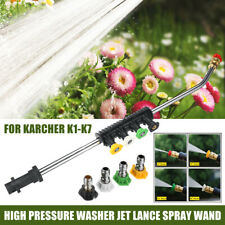 High Pressure Washer Jet Lance Spray Wand + 5 Nozzle Tips for Karcher