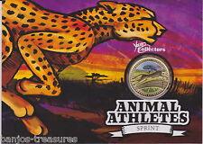 2012 $1 Young Collectors Animal Athletes – Cheetah Coin& Card