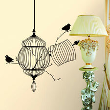 Black Birdcage Bird Removable Wall Sticker Home Decor Decal Art Vinyl Mural