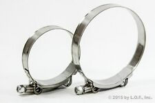 2 PC Stainless Metal Steel T Bolt Hose Clamps Assortment Kit Variety 3