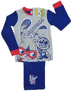 Boys Pyjamas Nightwear Moshi Monsters Long 5 6 7 8 9 10 11 & 12 Years Old