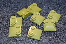 (8) 2x2 Olive Green Specialty Duck Bill Cover Bricks - NEW Lego Parts