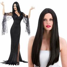Ladies Morticia Costume Immortal Soul Addams Family Fancy Dress Halloween ADD Wi