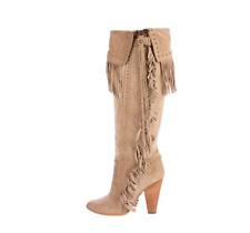 IMMACULATE D&G Western Cowboy tassel beige boots heels 38 5 2010 season