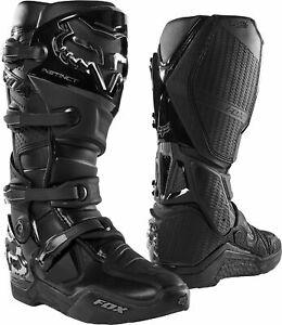 Fox Racing Mens Black Instinct Dirt Bike Boots MX ATV 2020