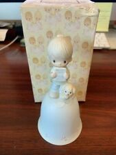 Precious Moments-Rare Boy/Report Card Bell-God Understands-With Box