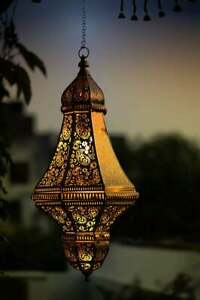 "22"" Moroccan Turkish Lamp Pendant Decor Black/Gold Ceiling Lights Hanging Lamps"