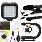 VIDEO LED LIGHT  VIDEO GRIP  ZOOM MICROPHONE FOR CANON EOS REBEL T5 T6 T6I T5I