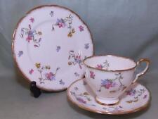 Royal Stafford Violets Pompadour Bone China Trio Tea Cup Saucer & Side Plate #2