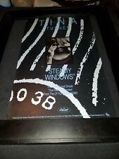 Tina Turner Steamy Windows Rare Original Radio Promo Poster Ad Framed!