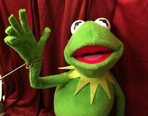 """Kermit the Frog Full Body 28"""" with Arm Rods Posable Legs And Bendy Fingers"""