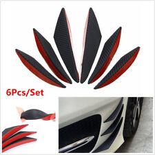 6pc Universal Carbon Fiber Look Auto Car Front Bumper Fins Spoiler Canards Refit