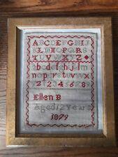 More details for antique sampler 1879 ellen biggs 12