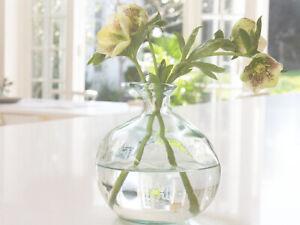 LARGE BUD FLOWER STEM VASE GLASS VINTAGE ANTIQUE FRENCH POT WEDDING VALENTINE