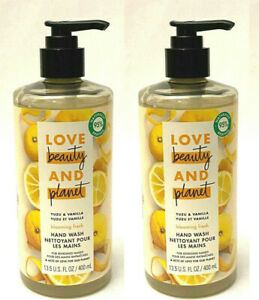 2 LOVE BEAUTY AND PLANET YUZU & VANILLA LIQUID SOAP HAND WASH 13.5 OZ NEW