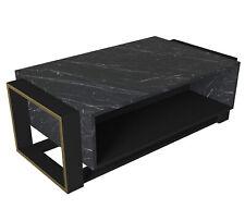 Couchtisch Rebab Braun Dunkelgrau Wohnzimmertisch Tisch Holz Marmor Optik 5163