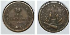 Our Country Patriotic Civil War Token Crossed Cannons Flags Drum