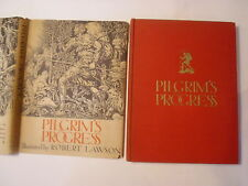 Pilgrim's Progress, Robert Lawson, DJ, 1939, 1st Edition, Stokes publisher