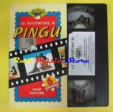 film VHS LE AVVENTURE DI PINGU 6 episodi 2000 DAMI EDITORE 30 minuti(F44) no dvd