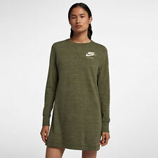 Nike Sportswear Gym Vintage Women's Dress Long Sleeve M Oiive Green Gym Casual