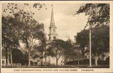 Falmouth Cape Cod MA Cong Church Postcard