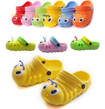 Girls Boys Kids Croc Style Sandals Slippers Summer Beach Caterpillar Shoes Size