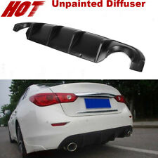 Fit For Infiniti Q50 14-15 Rear Bumper Diffuser Spoiler Lip Bodykit Unpainted